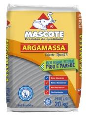 Argamassa ACII Interna e Externa Saco com 20kg Cinza Ref.509 - MASCOTE