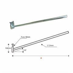 Suporte Aço 1,0x25mm Luminária Poste S10 - Ref. SB501 - LEVILUX