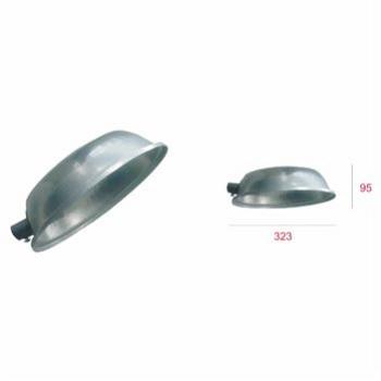 Luminária Alumínio 25mm Econômica Oval Aberta E27 - Ref. LM-254 - LEVILUX