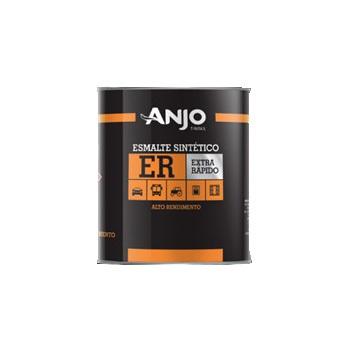 Tinta Esmalte Sintético 900ml Preto Fosco - Ref. 000893-23 - ANJO TINTAS