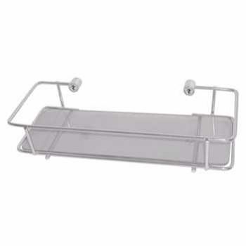 Porta Shampoo Metal Retangular Vidro 16016 - Ref. 2473-0 - LEÃO METAIS