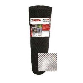 Tela Plástica Proteção Galinha 1,50m de Largura N2 Preta - Ref.MT9362 - ROMA