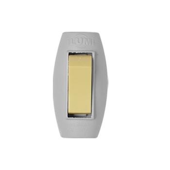 Interruptor 1 Tecla Cordão Abajur 6A Cinza - Ref.1649 - ILUMI