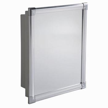 Armário de Banheiro Alumínio 31x36x10 Sobrepor e Embutir - Ref. AL41*CZ2 - ASTRA
