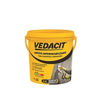 Impermeabilizante 3,6 Litros Concreto Argamassa 3,78kg -  Ref.121733 - VEDACIT
