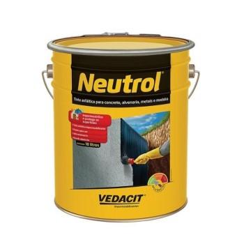Tinta Betum 18 Litros Neutrol 45 Base Solvente  - Ref. 112410 - VEDACIT