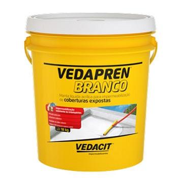 Impermeabilizante Acrilíco 18kg Vedapren Branco -  Ref.113156 - VEDACIT