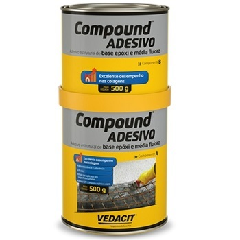Adesivo EPX 1kg A500g+B500g Compound - Ref.121809 - VEDACIT