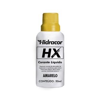 Corante Líquido HX Amarelo 50ml - Ref. 6030000009 - HIDRACOR.