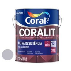Tinta Esmalte Brilho 3,6 Litros Coralit Aluminio - Ref. 5202693 - CORAL