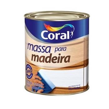 Massa Para Madeira Branco 900ml - Ref. 5203065 - CORAL