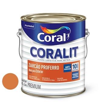 Coralit Zarcão Proferro 3,6 Litros - Ref. 5202667- CORAL