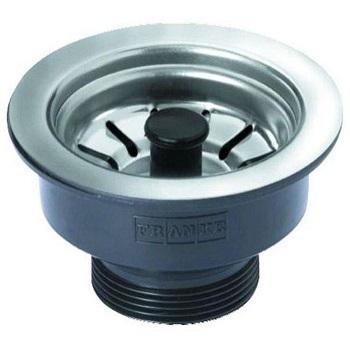 Válvula Pia Americana Inox 3.1/2x1.1/2 Plástico Preto - Ref.09241 - FRANKE