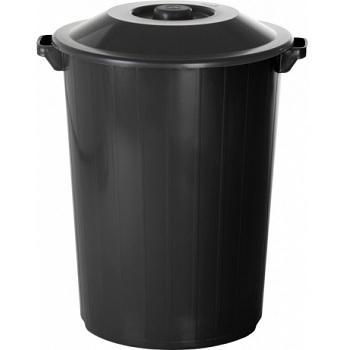 Lixeira Plástica 64 Litros Recycle Preto - Ref.377LP8990 - PLASVALE