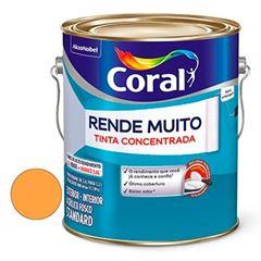 Tinta Acrílica Fosca Rende Muito Laranja Cítrico 3,6 Litros - Ref. 5202167 - CORAL