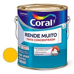 Tinta Acrílica Fosca Rende Muito Amarelo Frevo 3,6 Litros - Ref. 5202191 - CORAL