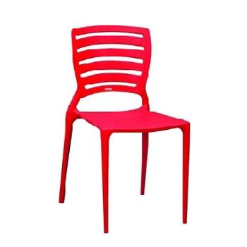 Cadeira em Polipropileno Sofia com Encosto Vazado Vermelha - Ref.92237/040 - TRAMONTINA