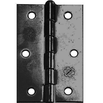 Dobradiça Aço 2.1/2 Cartela com 3 850 Preta - Ref.91726 - SILVANA
