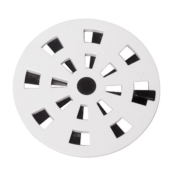 Grelha PVC 97mm Redonda Giratória Branca - Ref. GRB1 - ASTRA