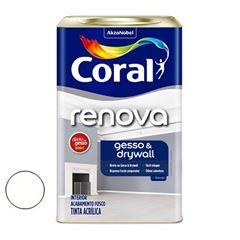 Tinta Látex 18 Litros Fosca Renova Gesso e Drywall Branco - Ref.5202491 - CORAL