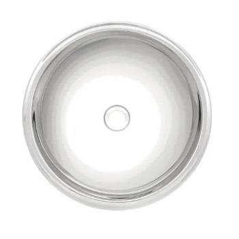 Cuba de Sobrepor para Lavabo em Inox 30x12 Redonda Alto Brilho 304 - Ref. 94103/207 - TRAMONTINA