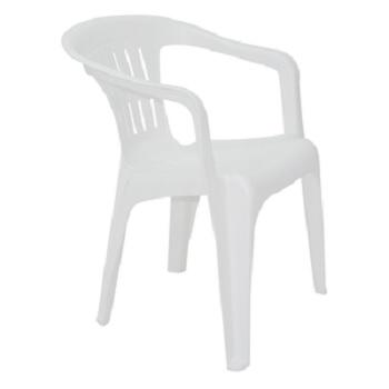 Poltrona Plastica Atalaia Branca - Ref. 394413 - TRAMONTINA