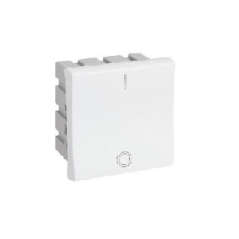 Interruptor 2 Módulo Bipolar 25A Plus Branco - Ref. 612016 - PIAL