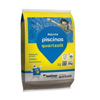 Rejunte Flexível 5kg para Piscina Branco - Ref.0108.00000.0030FD - QUARTZOLIT