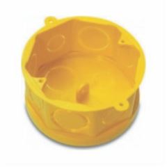 Caixa Luz 4x4 Octagonal Fundo Móvel Amarela - Ref.33043155 - TIGRE