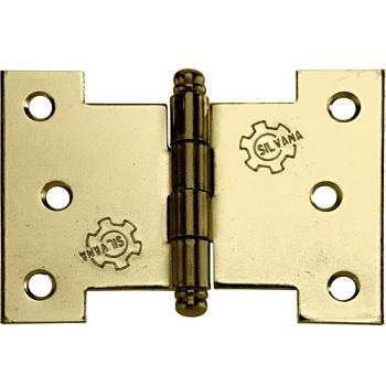 Dobradiça Aço 3.1/2 Cartela Com 2 Palmela Pino Bola 840 Ferro Zincado Oxidado Envernizado - Ref. 96387 - SILVANA