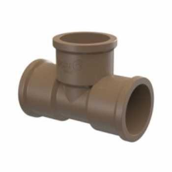 Tê Soldável PVC 50mm - Ref.22200518 - TIGRE