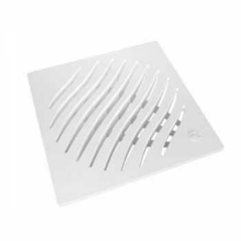 Grelha PVC 100mm Quadrada  Branca - Ref.27505007 - TIGRE