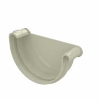 Cabeceira PVC 125mm Aquapluv Beiral Esquerda Bege - Ref.32068855 - TIGRE