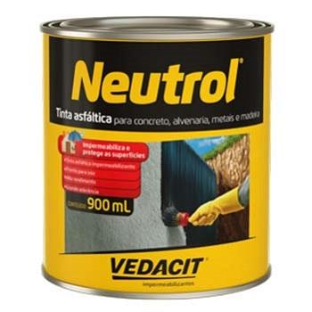 Tinta Betum 0,9 Litros Neutrol 45 Base Solvente - Ref.121635 - VEDACIT