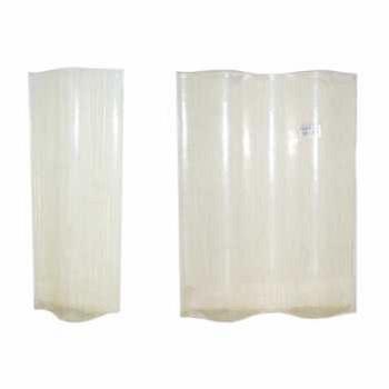 Telha Translúcida Fibra de Vidro 0,50x0,19m 1 8mm - Ref. 03020001 - ONDALEV