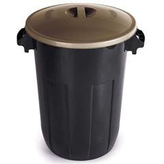 Cesto Plástico 32,5 Litros de Lixo com Tampa Cores - Ref.000545 - PLASÚTIL