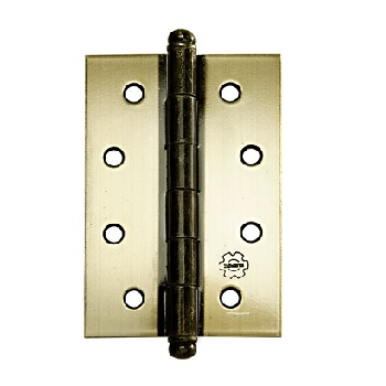Dobradiça Aço 3x2.1/2 Cartela com 3 880 Ferro Zincado Oxidado Envernizado - Ref.93836 - SILVANA