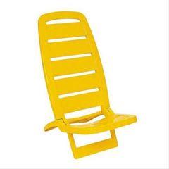 Cadeira de Praia Plástica Guarujá Amarela - Ref.92051/000 - TRAMONTINA