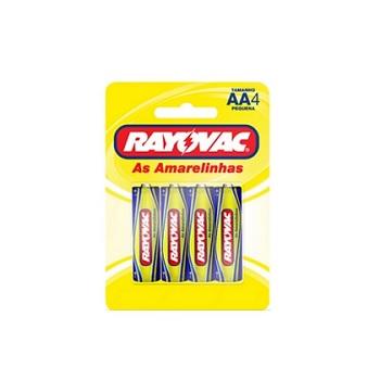 Pilha Pequena AA com 4 Unidades R06 Amarelinha - Ref.10842 - RAYOVAC