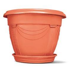 Vaso Plástico 19x25cm Número 1 Redondo Romano Cerâmica - Ref. 6100303-03 - NUTRIPLAN