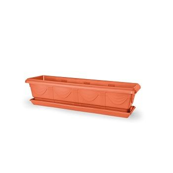 Jardineira de Plástico 80cm Número 3 Retangular Cerâmica - Ref. 6100403-03 - NUTRIPLAN