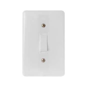 Interruptor Stylus 4X2 1 Tecla Simples 6A Branco - Ref.2017 - ILUMI