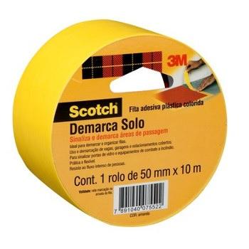 Fita Adesiva de Demarcação de Solo Scotch 471 50mmx10m Amarela - Ref. H0002204149 - 3M
