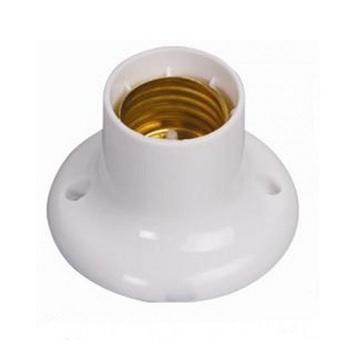 Soquete Plástico E27 Base Fixa Branco - Ref. 1607 - ILUMI