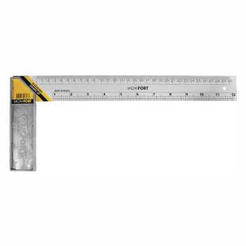 Esquadro Aço 12 polegadas x 30cm Cabo Zamak - Ref. 626012 - MOMFORT