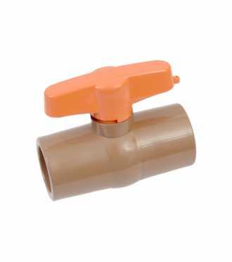 Registro Esfera PVC 20mm Soldável Marrom Cartela - Ref. 3167 - HERC
