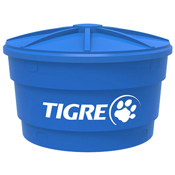 Caixa d  Água Polietileno 310 Litros Corpo Tampa Azul - Ref. 22993119 - TIGRE