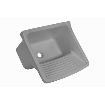 Tanque Plástico 20 Litros 55x47cm de Sobrepor Cinza - Ref.TQ1/SC*CZ2 - ASTRA