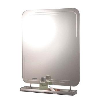 Espelho 64x49cm Cris-Belle Retangular com Prateleira - Ref.233 - CRISMETAL