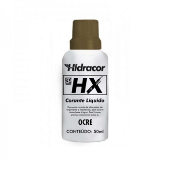 Corante Líquido HX Ocre 50ml - Ref. 6030000012 - HIDRACOR.